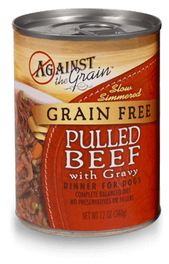 Against the Grain Pulled Beef with Gravy Canned Dog Food Recall