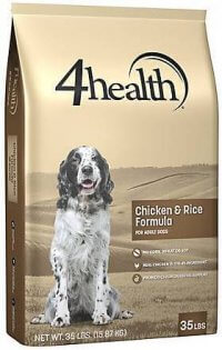 4Health Dry Dog Food Package for DFA Review