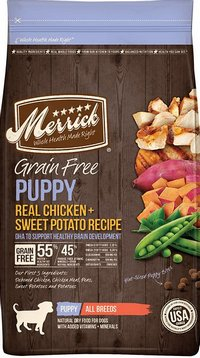 Merrick Grain Free Chicken and Sweet Potato Recipe Puppy Dog Food