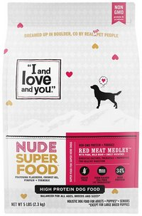 I and Love and You Nude Super Food Dry Dog Food Red Meat Medley Grain-Free