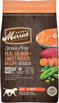 Merrick Grain Free Real Salmon and Sweet Potato