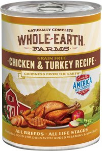 Whole Earth Farms Chicken and Turkey Recipe Canned Dog Food
