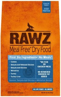 RAWZ Meal Free Salmon, Chicken and Whitefish Dog Food