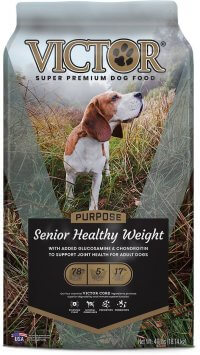 Victor Senior and Weight Loss dog food